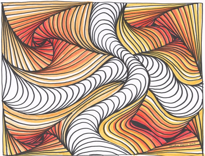 Cool 3d Abstract Line Illusion By Jonathan Harris Original